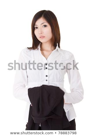 Business uitvoerende vrouw asian halve lengte Stockfoto © dacasdo