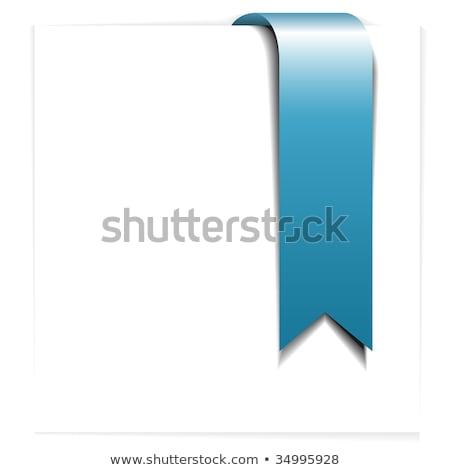 świeże niebieski wstążka dodaj do ulubionych biały działalności Zdjęcia stock © orson