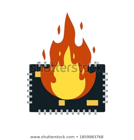 сжигание · Plug · белый · черный · назад · огня - Сток-фото © gewoldi