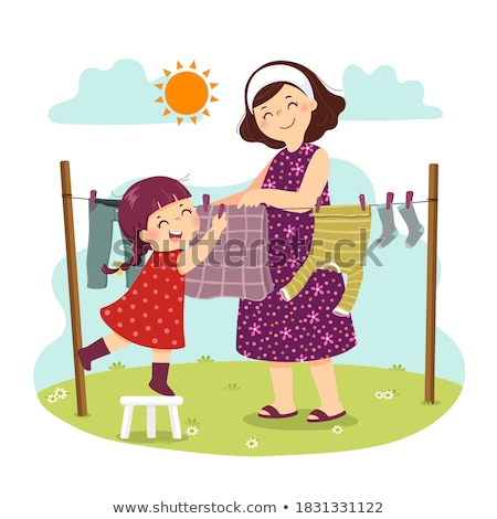 child clothesline stock photo © luiscar