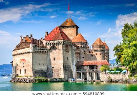 kasteel · Zwitserland · meer · hemel · water - stockfoto © vichie81