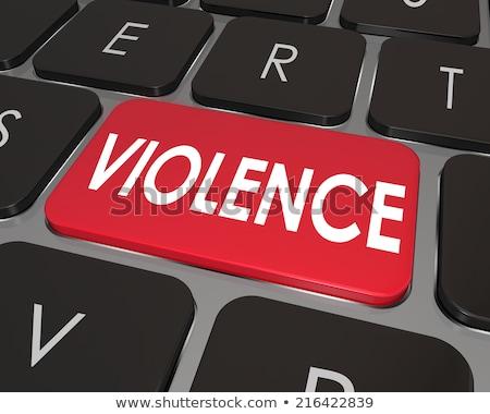 kegyetlenség · számítógép · videojátékok · gyermek · monitor · videó - stock fotó © cookelma