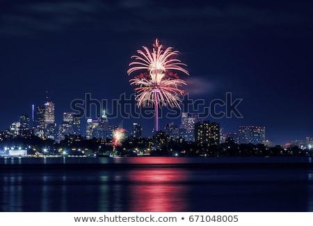 トロント 花火 表示 表示 パーティ 市 ストックフォト © elenaphoto