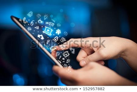 online · business · overeenkomst · handdruk · illustratie · ontwerp - stockfoto © adamr
