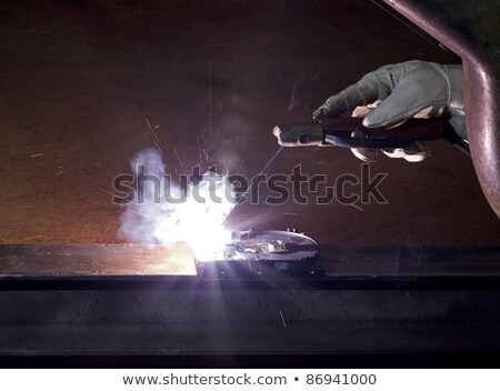 welding on open hard disk drive in rusty background Stock photo © gewoldi