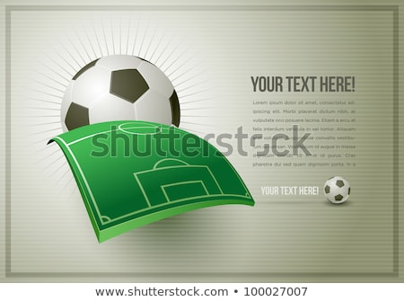 soccer football in vintage paper with space for text stock photo © vichie81