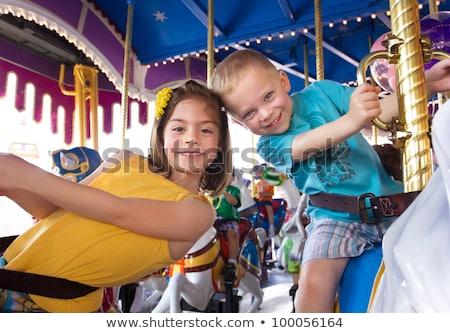 Little boy in amusement park Stock photo © pekour