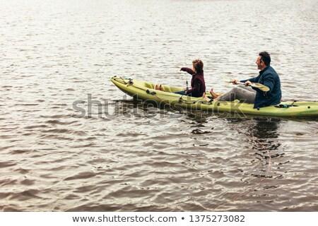 mulher · sessão · barco · lago · natureza · saúde - foto stock © photography33