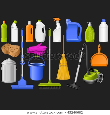 plastic detergent bottles and bucket stock photo © Antonio-S