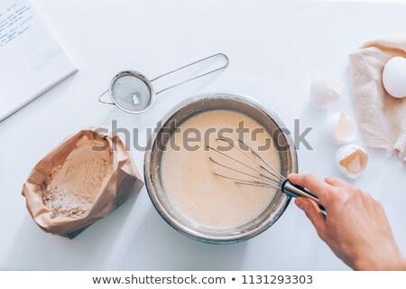 kobiet · piekarz · uśmiechnięty · kuchnia · ręce · restauracji - zdjęcia stock © photography33