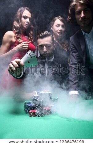 Casino maffia taai jongens wegwijzer geld Stockfoto © sahua