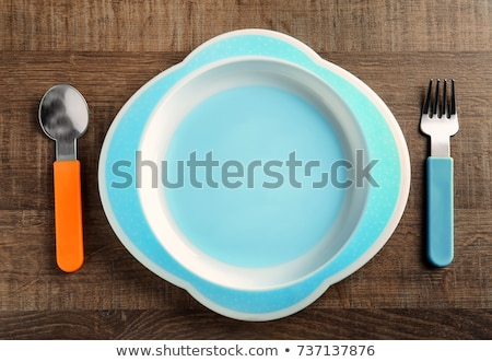 Colorful plate and cutlery for a child Stock photo © photography33