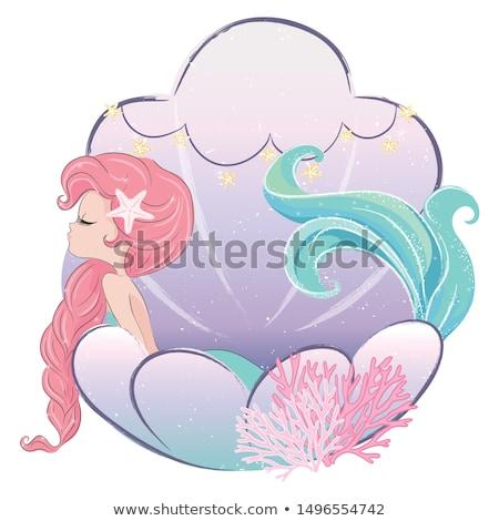 美しい 人魚 少女 肖像 美少女 花 ストックフォト © zastavkin