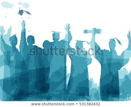 school graduate silhouette stock photo © arenacreative