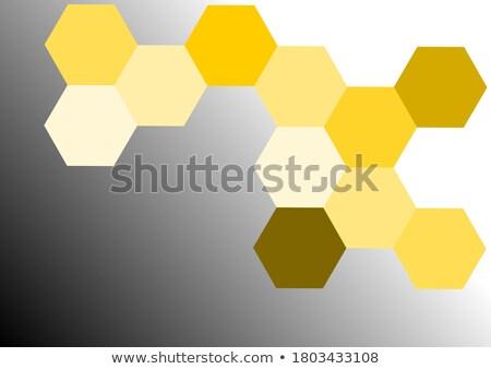 Résumé en nid d'abeille tuiles fond orange couleur Photo stock © jirisolecito