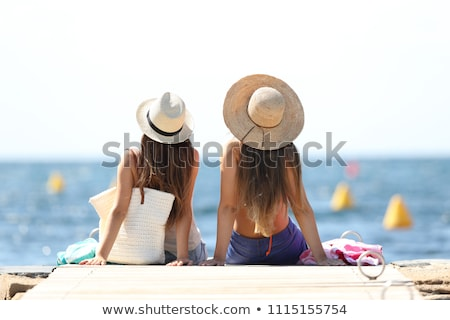 Two teenage girls sunbathing Stock photo © photography33