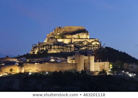 Сток-фото: ночь · Испания · здании · стены · зданий · замок