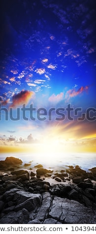 Stockfoto: Zonsondergang · scène · lange · blootstelling · shot · verticaal · panoramisch
