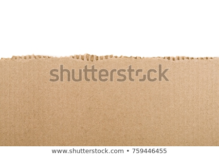 ピース · 引き裂か · ブラウン · 段ボール · 孤立した · 白 - ストックフォト © milsiart