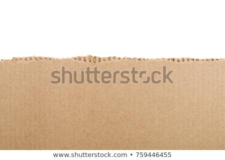 torn cardboard pieces set stock photo © milsiart