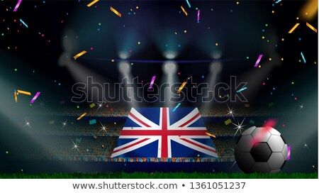 sports silhouettes uk flag stock photo © cienpies