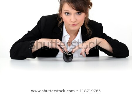 Office worker sat with empty purse stock photo © photography33