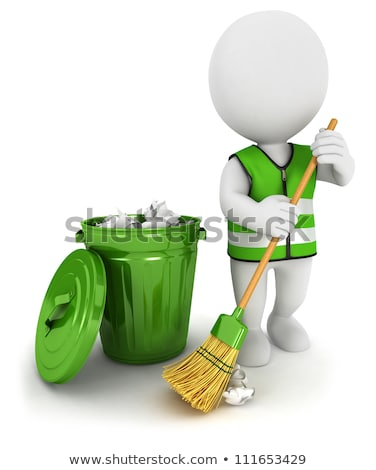 3d small people - sweeper Stock photo © AnatolyM