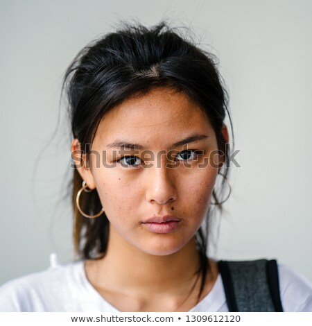Tête coup femme intense Rechercher portrait Photo stock © scheriton