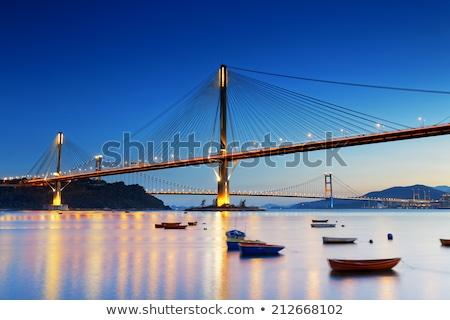 Ting Kau Bridge At Sunset In Hong Kong Foto d'archivio © cozyta