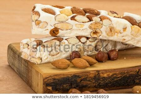 nougat with almonds Stock photo © M-studio