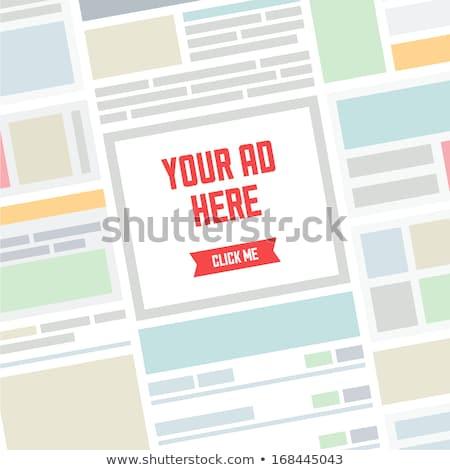 場所 ビジネス 広告 ここで トレンディー 若い男 ストックフォト © stockyimages