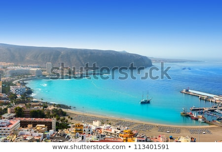 Los Cristianos beach in Arona Tenerife south Stock photo © lunamarina