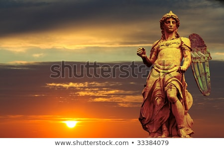 Statue of St. Michael in Rome Stock photo © sumners
