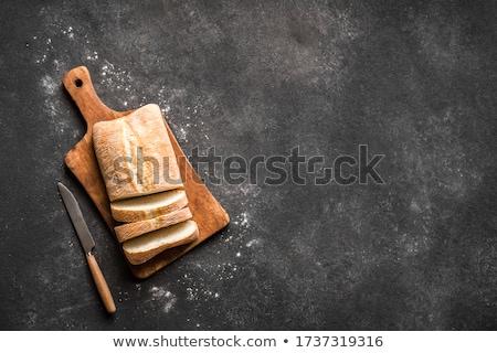 Ekmek beyaz gıda kahvaltı yemek Stok fotoğraf © jirkaejc