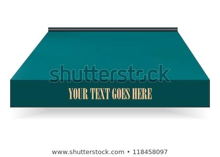 Verde porta fundo janela quadro restaurante Foto stock © experimental