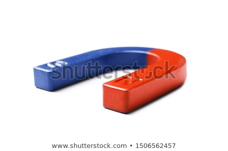 Horseshoe magnet isolated on white Stock photo © sidewaysdesign