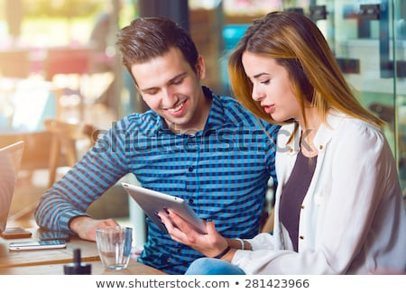 Two young people studying together Stock photo © photography33