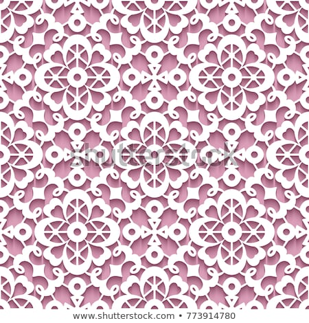 scroll floral embroidery lace pattern  Stock photo © creative_stock