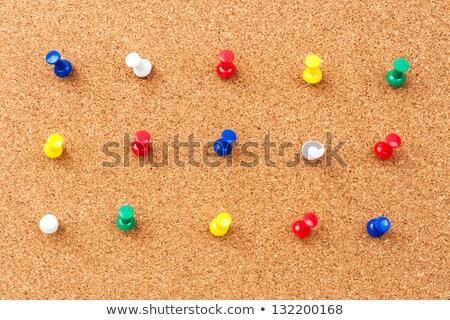 Vazio cortiça mensagem conselho cor papel Foto stock © samsem