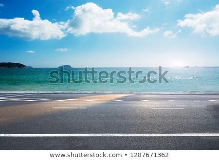 пляж шоссе основной дороги крошечный Тропический остров Сток-фото © MojoJojoFoto