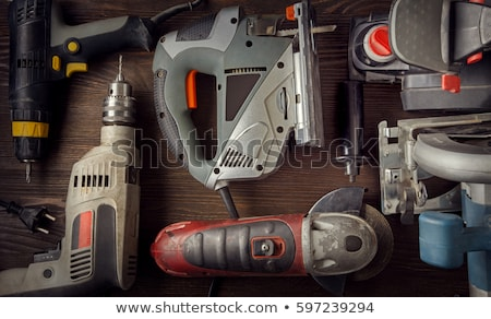 power drill and toolbox Stock photo © kjpargeter