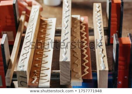 Lijm hout werk macro Stockfoto © Hofmeester
