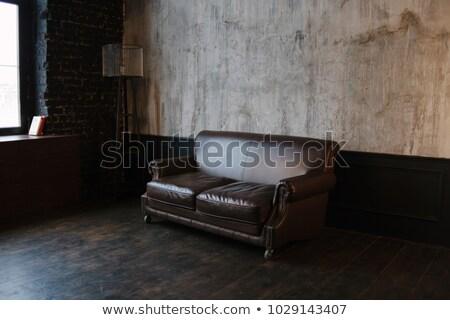 Nagy kanapé nappali ablak ház fal Stock fotó © Ciklamen