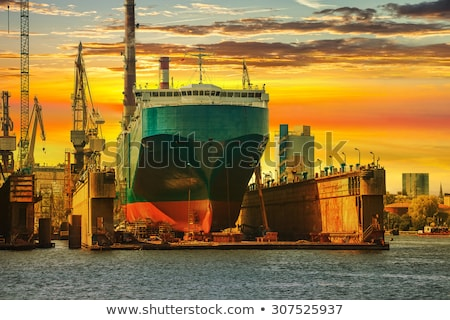 Shipping Vessel Docked for Maintenance  Stock photo © tab62