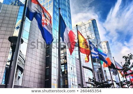 Europa crise financeira crise europeu bandeira Foto stock © Lightsource
