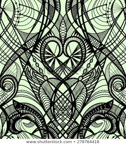 stripes and laces seamless pattern green and white stock photo © ratselmeister