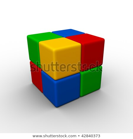Four Colorful Plastic Toy Bricks Foto stock © ALMAGAMI