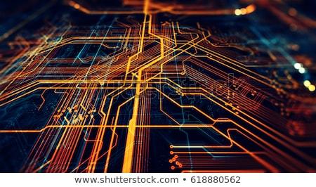 Orange screen of boards Stock photo © elxeneize