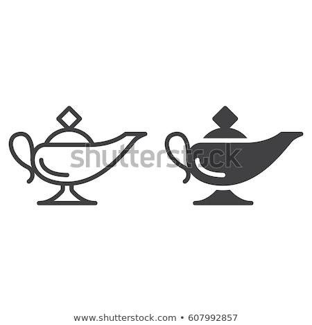 Vector icon magic lamp stock photo © zzve