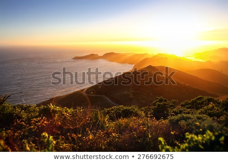 Golden sunset over the tropical sea Stock photo © moses